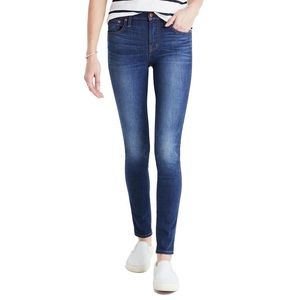 Madewell High Riser Skinny Skinny Jeans Polly Wash